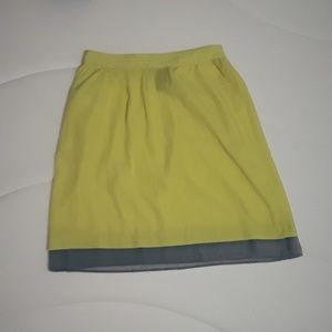 Yellow Skirt XS W/ Elastic In The Back